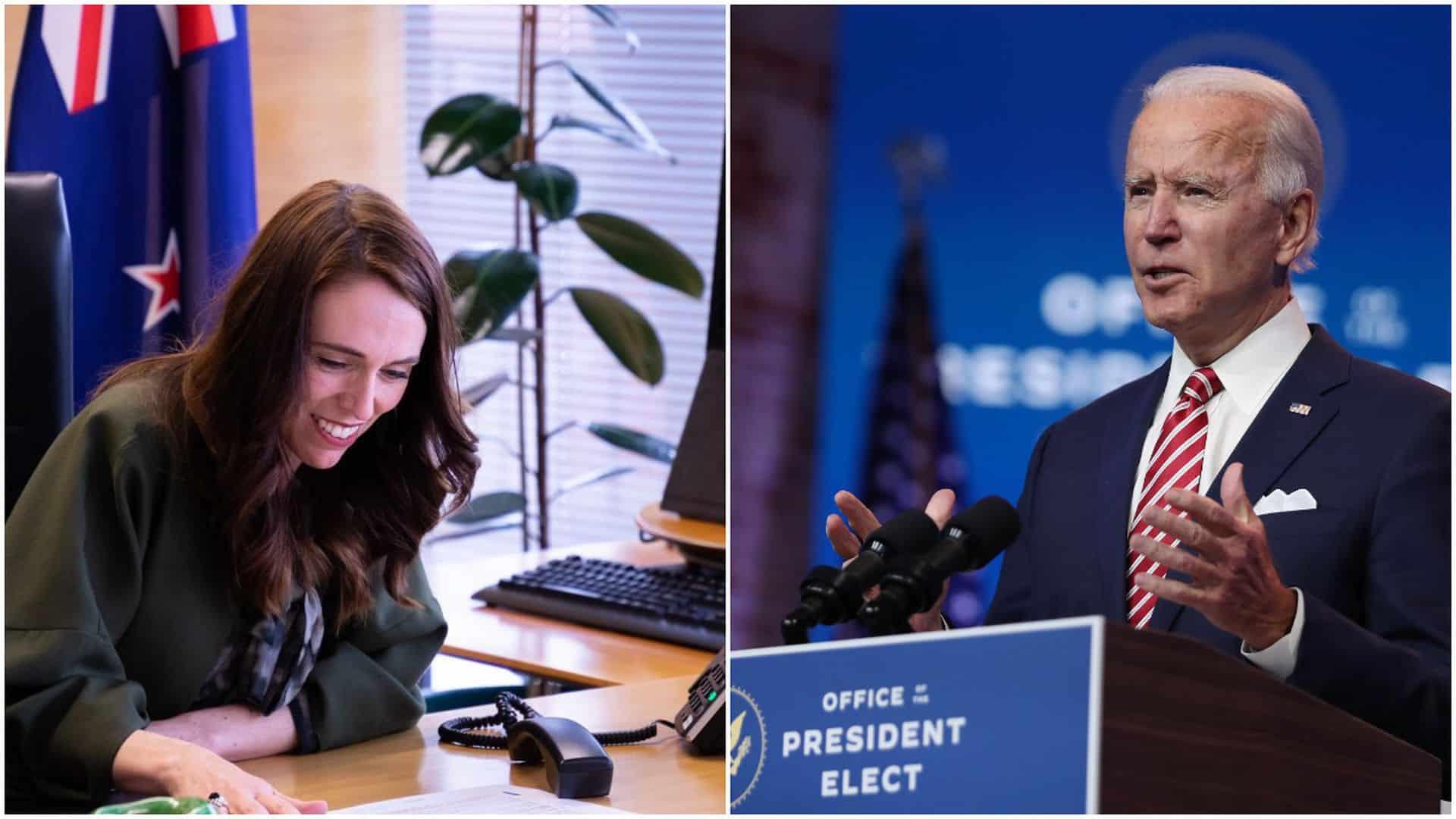 New Zealand Prime Minister Jacinda Ardern and President Joe Biden